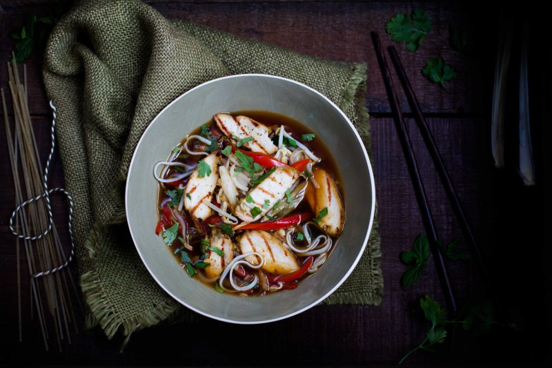 how to make chicken pho noodles