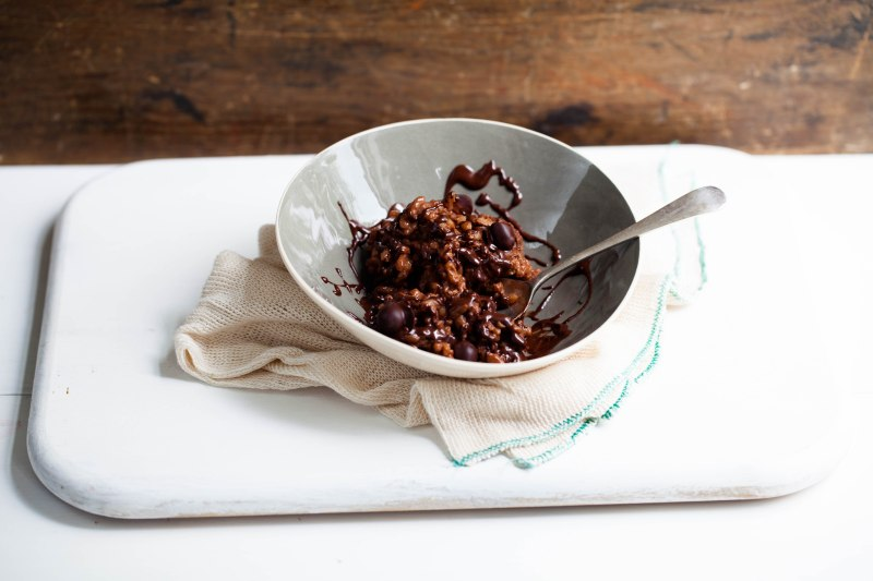 Chocolate rice pudding-1