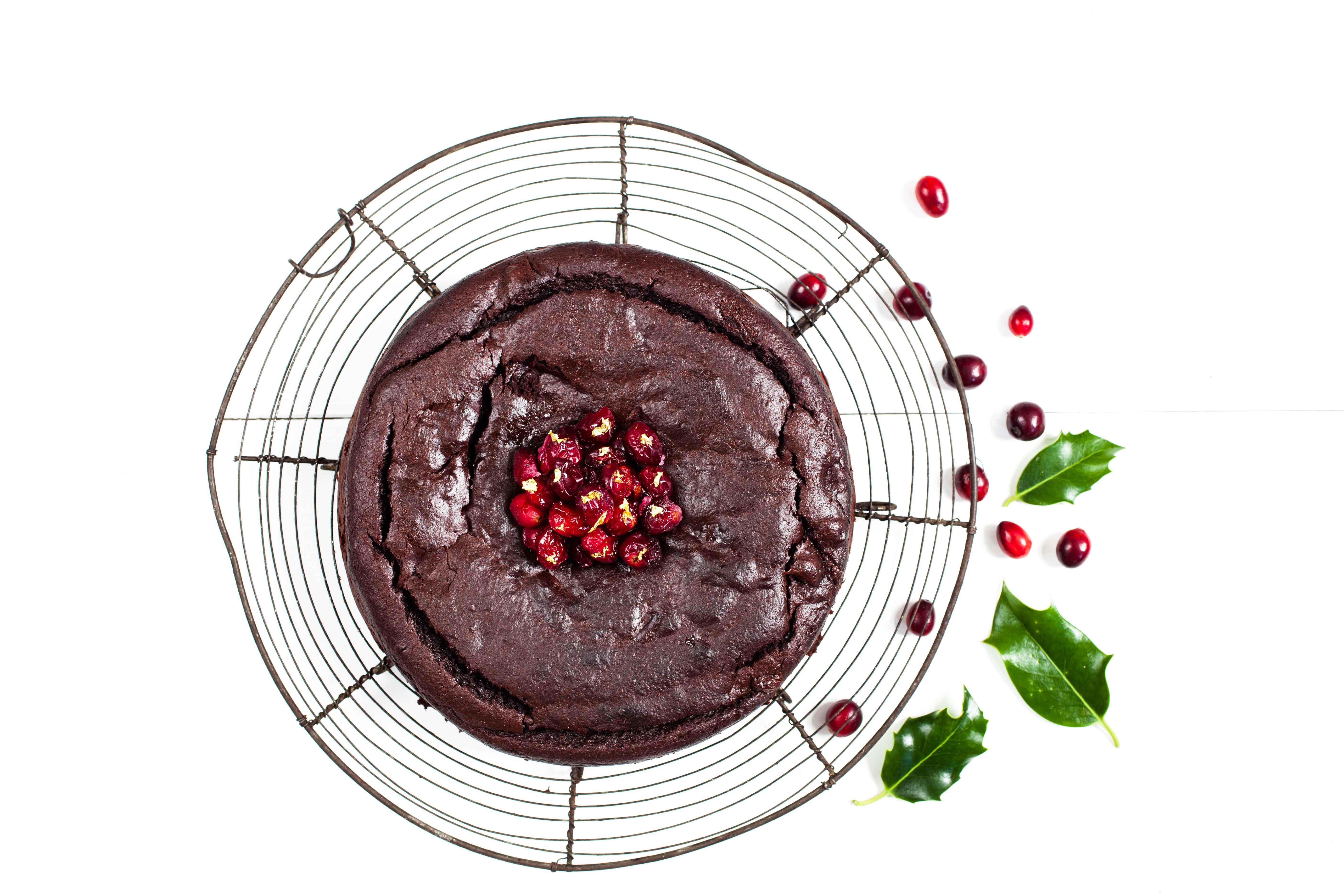 Chocolate And Cranberry Cake Waitrose