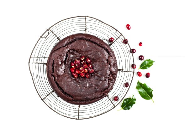 Cranberry, orange and chocolate cake for the sensitive gut-1-5