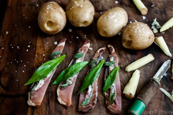Garlic, anchovy and sage potatoes-9