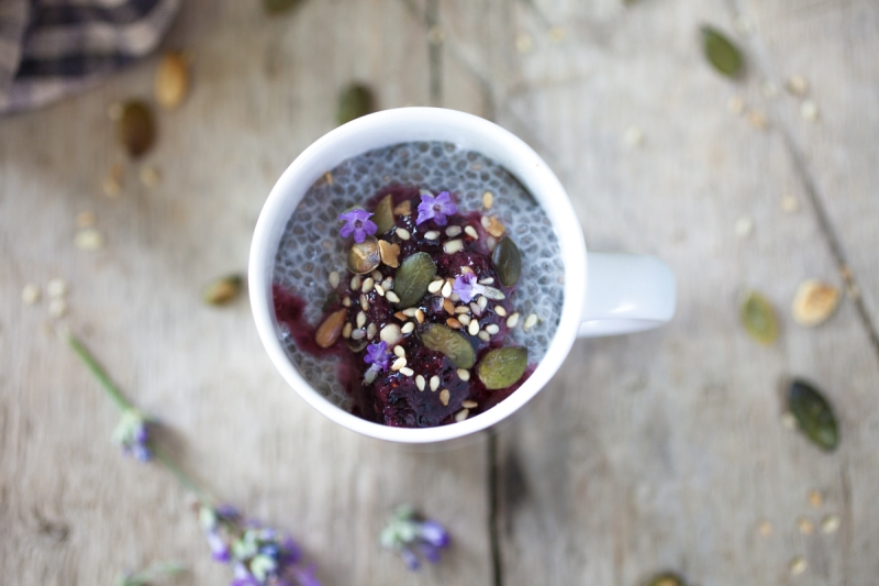 Chia seeds blueberry lavender and seeds-7