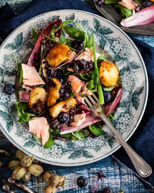 Salmon salad 4 x 5